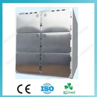 BS0969 Hospital 6 door stainless steel corpse freezer