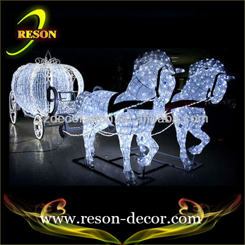 RS-carriage01 Horse carriage new outdoor christmas decorations 2013