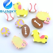 new design cute animal shape rubber eraser for children with low price