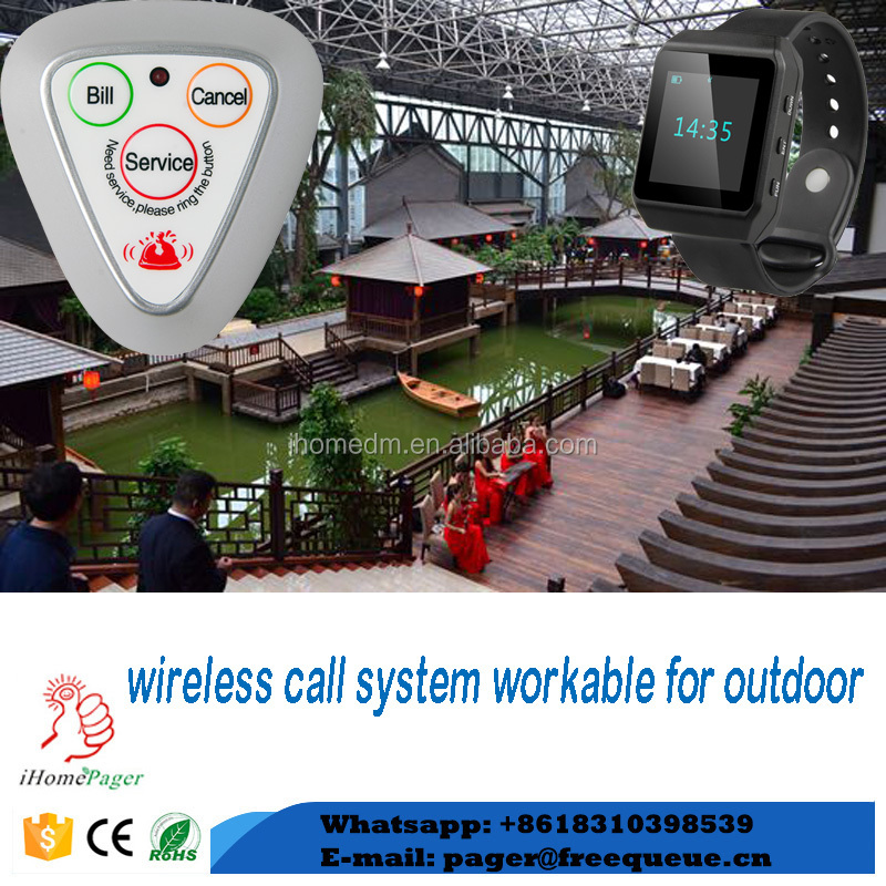 wireless restaurant paging system guests easily call waiter device
