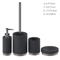Black 4PCS High quality polyresin bathroom accessories set from chinese new product bathroom sets