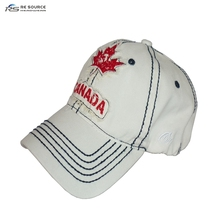 washed finish white Canada cotton baseball sports caps