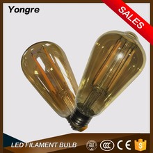 Factory direct wholesale popular lighting bulb edison bulb energy saving bulb parts ST64 led light