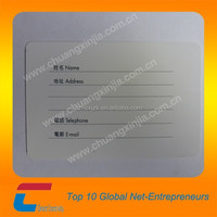 One card type writable luggage tag, business name/company cards printing