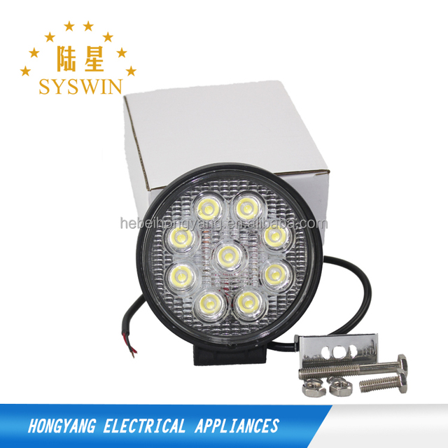 1 years warranty super bright 27w 36w 48w led work light round off road lights flood working light with magnetic base