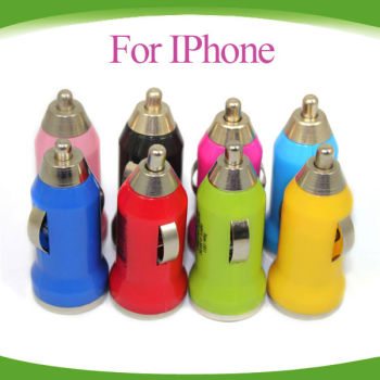 Wholesale!!Universal colorful Mini USB Car Charger for Iphone/Ipad/Samsung