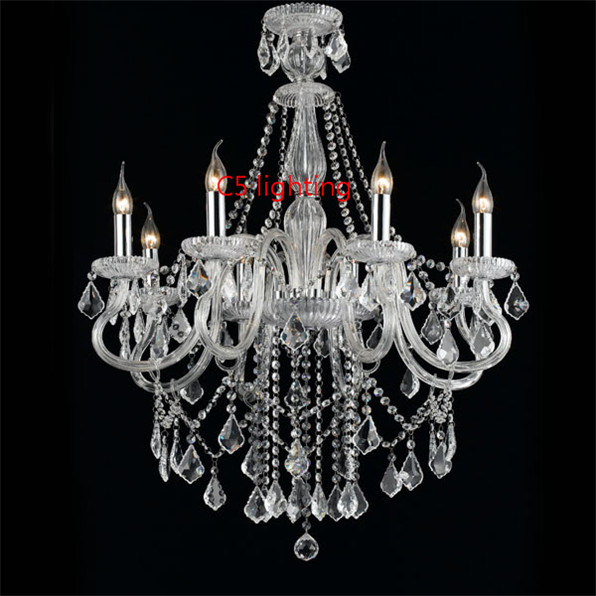 crystal hanging chandeliers lighting bedroom corner square shade light