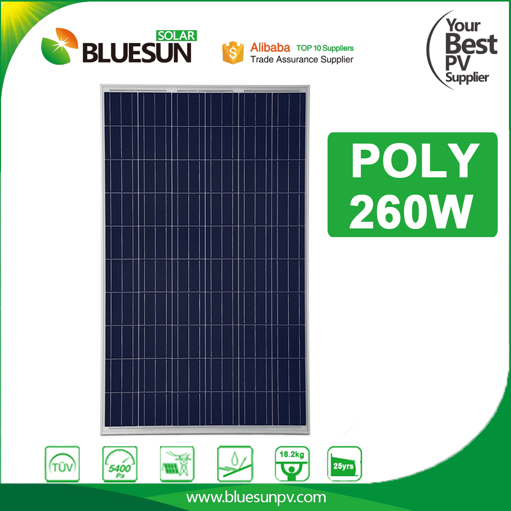 Waterproof poly solar panel 24v 250w 260v 280 watt for home