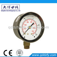 ISO9001 certificate passed air or liquid pressure manometer psi