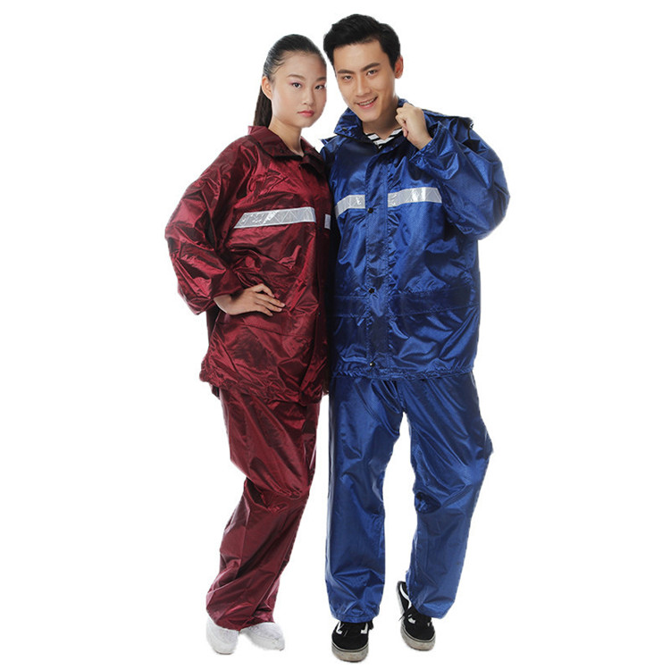 Unisex Reflective lightweight Polyester Raincoat Jacket for Motorcycle Pant Work Protective Rain Suit