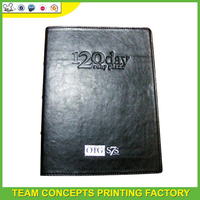 customize pu leather cover a4 notepad