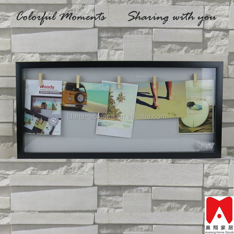 Hot Line Up 5 Pictures white or black customized PS Elegant beautiful business gift use mirror square meter price photo frame