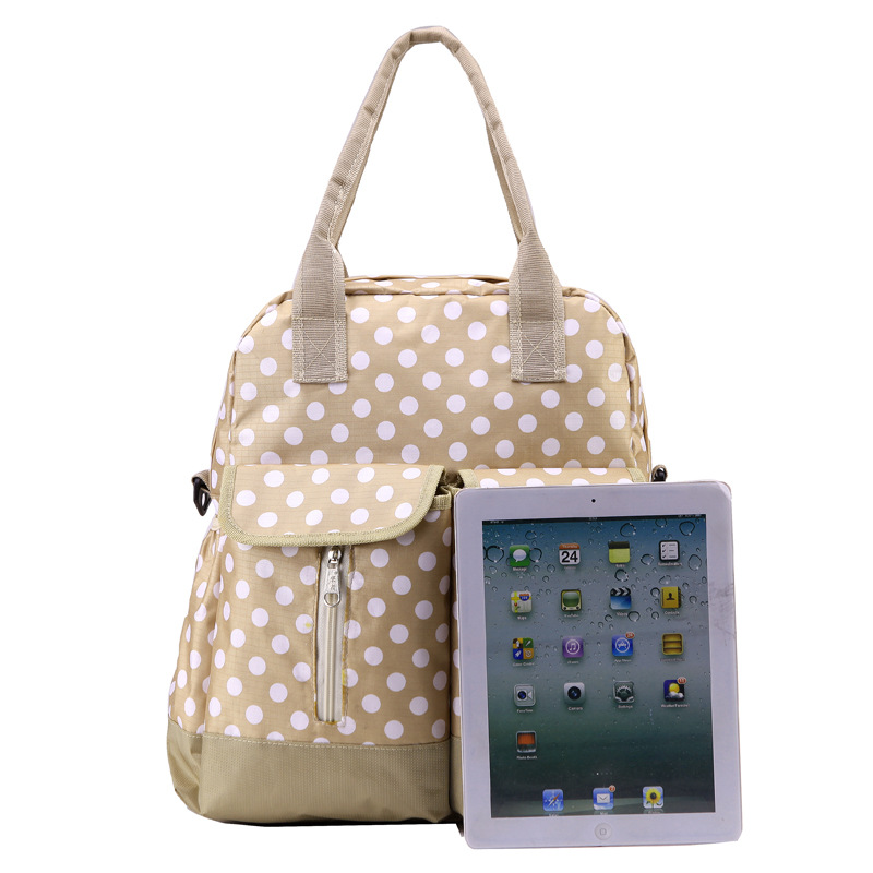 Guangzhou custom canvas adult baby tote diaper bag for fashion mummy