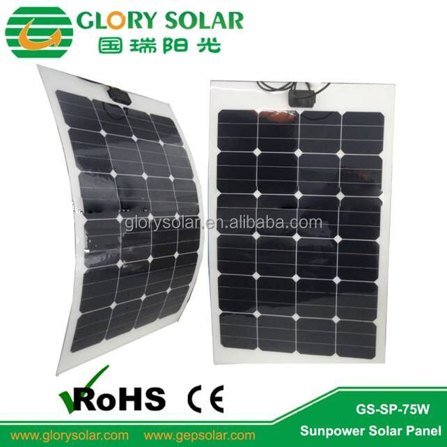 75W Thin Solar Panel Solar Flexible For 24V Battery Electric Cargo Tricycle DC Fan