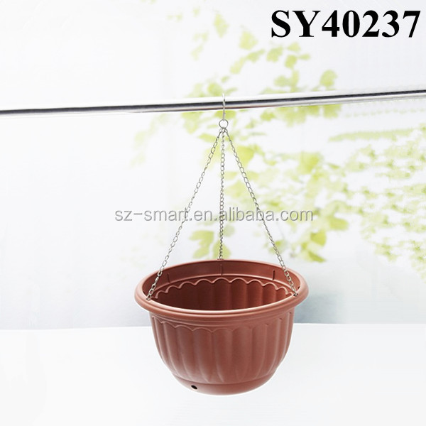 Basket outdoor small hanging plastic plant pots