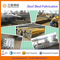 Steel members for prefabricated light steel frame house/light prefab steel sheds building