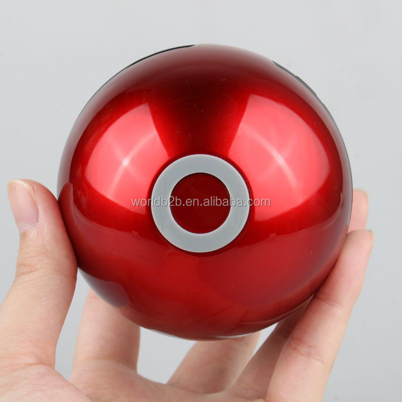 Christmas gift Halloween promotion gift LED flash portable Pokemon ball bluetooth speaker