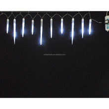 led Mixed Meteor White LED Light String with Icicle Reflectors light