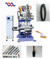 High Speed Flat Wire Drilling and Tufting Machine for Roller Brush/ Roller Brush Making Machine/Hair Brush Making Machine