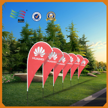 Hot selling customized printed teardrop flag banner