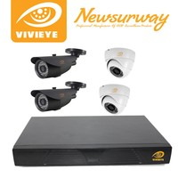 VIVIEYE lowes home security cameras outdoor waterproof cctv camera 4ch cctv dvr kit