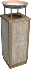 5 star hotel solid wood and marble high quality ash bins