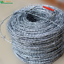 China factory high quality hot dipped galvanized Cablire 16 15 18 100m 200m 400m 500m barbed wire price motto