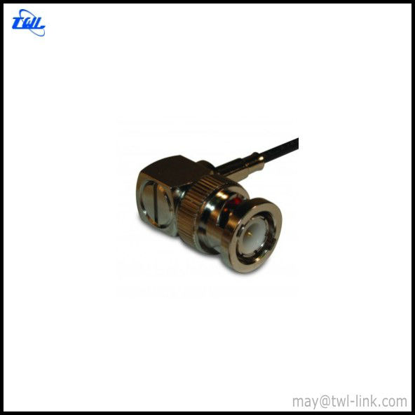 BNC R/A Crimp Male Conector for RG-174, RG-316, LMR-100 Cable