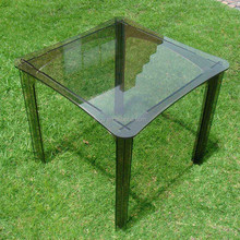 square modern durable acrylic perspex garden dinner table