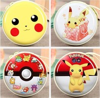 very cute Pokemon Go Zipper Earphone Box Portable Pikachu Storage Case Bag Key /Coin / Headset Storage Bag