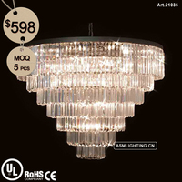 Modern Design Chandelier with Clear Crystal