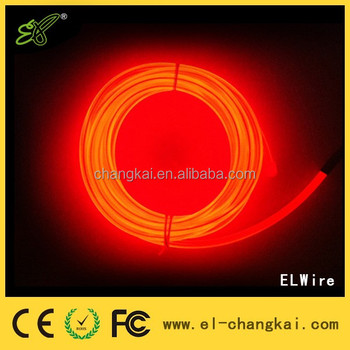 Hot Sale diameters 3.2mm,1m 3m 5m Blue White Green EL Wire,flexible neon el wire,multi color electroluminescent wire