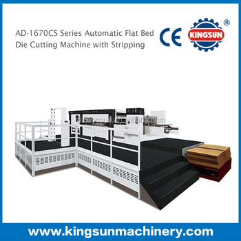 AD-1670CS Corrugated Box Automatic Platen Die Cutting Machine