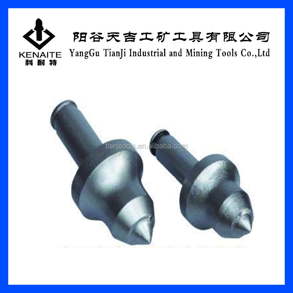 Round shank cutting tools for mining and trenching