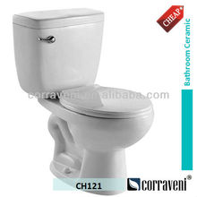 cheap price south american sanitaryware ceramic two piece siphonic wc toilet CH121