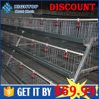 H type battery layer poultry rearing chicken cages