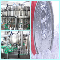 refresh sparkling flavoured water/canned carbonated drinks/bottle filling machine