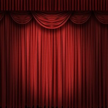 Decorated Fireproof Elegant Cinema Stage Curtain