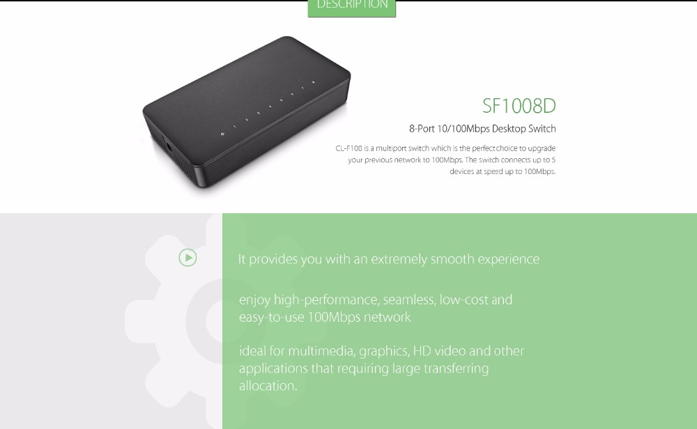 Hot selling 8-Port Ethernet Switch with Best Price
