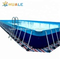 High quality detachable metal frame swimming pool, rectangular metal frame pool