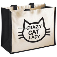Custom Handbag Cotton Canvas Grocery Shopping Bag Girls Euro Tote Bag