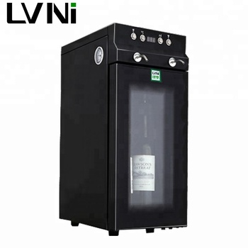 LVNI wholesale no2 glass door 2 bottles dual liquid wine dispenser China with constant temperature and humidity