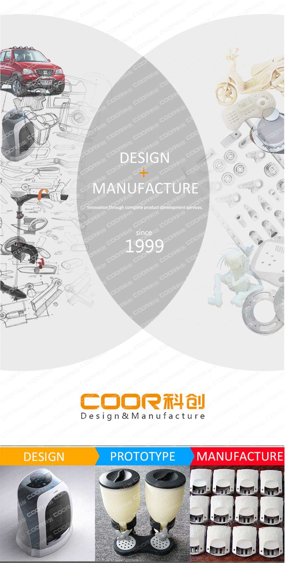 COOR Small Quantity Batch Production Rapid Prototyping Service