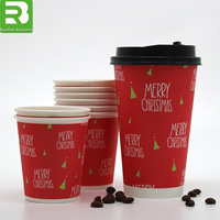 To Go Hot Cups_Colored Disposable Vending coffee paper Cups with Cover_Paper Mugs with Customized Logo