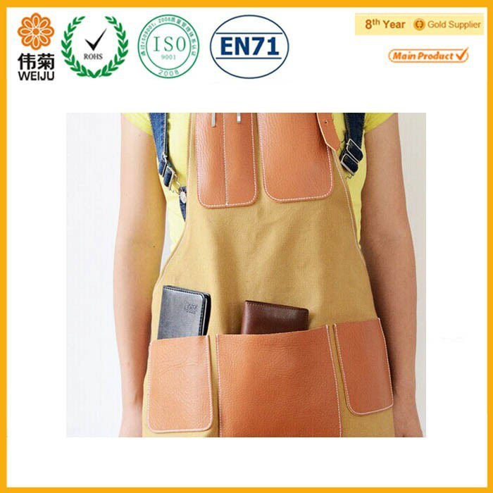 2015 Hot sale welding brown work women leather apron