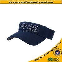 3D embroidry logo golf caps and hats men outdoor sunscreen sports caps cotton sun visor hats
