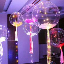 Luminous Led Balloon Transparent Round Bubble Decoration Party Wedding 2017 Halloween Christmas decor glowing Balloon