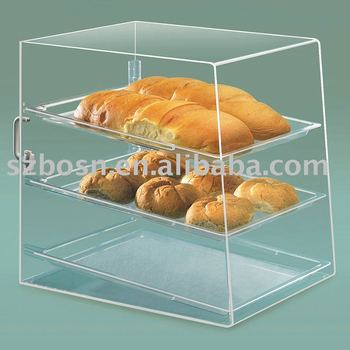 Acrylic Bread Case, Perspex Bakery Display, Plexiglass Cupcake Stand