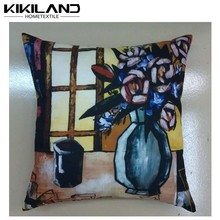 Oil painting printed van gogh masterpiece cheap cushion cover linen