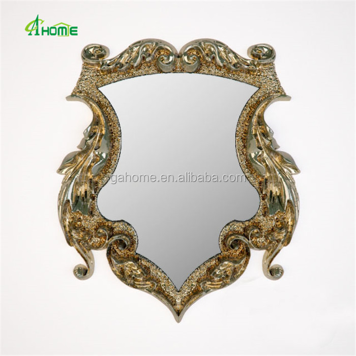 gold round dressing mirror hanging makeup wall mirror